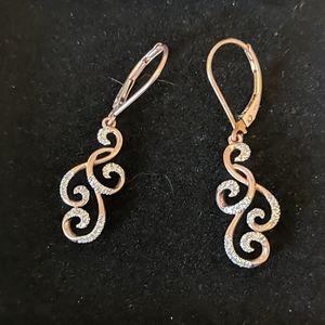 Rose Gold/Diamond Earrings